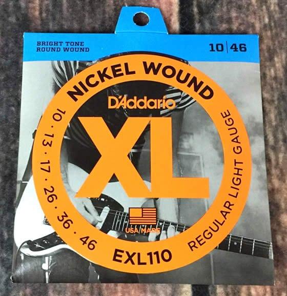 cuerdas de guitarra electrica daddario exl110