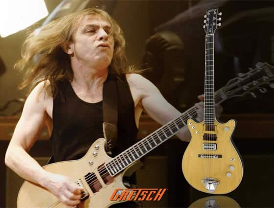 malcolm young guitarra gretsch jet