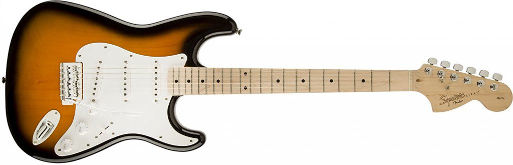guitarra electrica barata fender stratocaster squier
