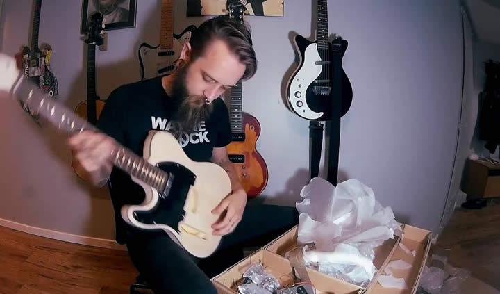 guitarra de luthier proceso