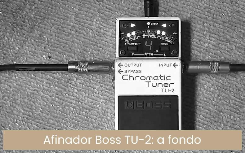 Boss TU-23Afinador cromático de pedal sintonizador Keepdrum Jack de Cable