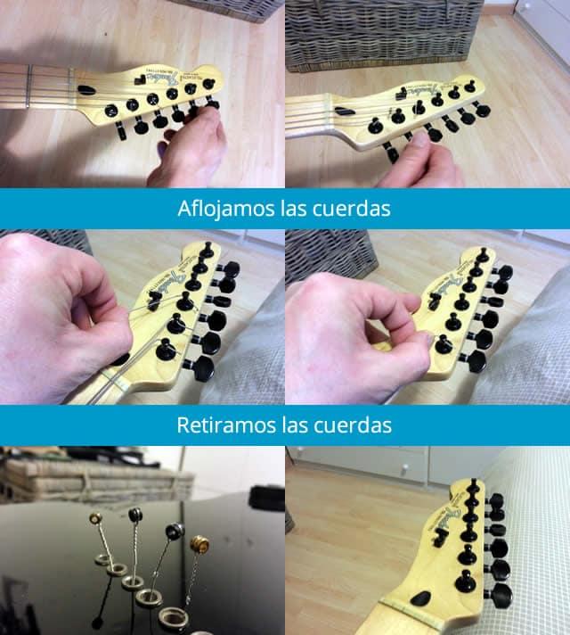 como cambiar las cuerdas de una guitarra electrica 2