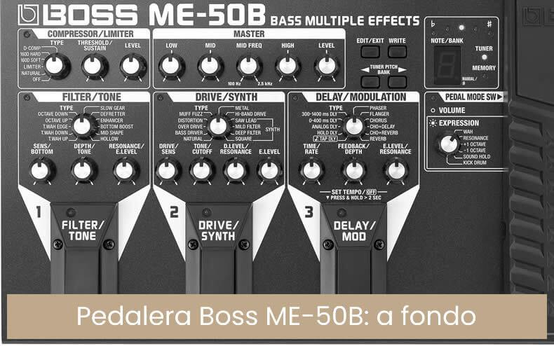 Boss ME50B - Me 50 b pedal multiefectos